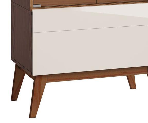 Imagem de Cristaleira Classic 1G Freijó com Off White - Imcal Móveis