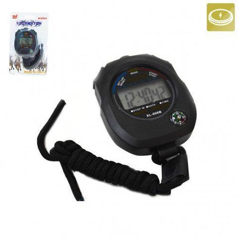 Imagem de Cronometro Digital com Calendário e Bússola + 2 Apitos Metal Profissional com cordão