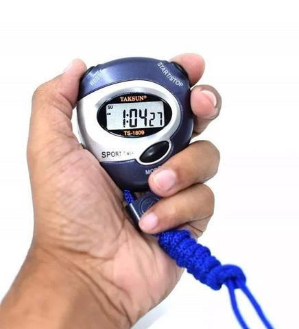 Imagem de Cronômetro Progressivo Digital Relógio Alarme Data Hora Com Cordão
