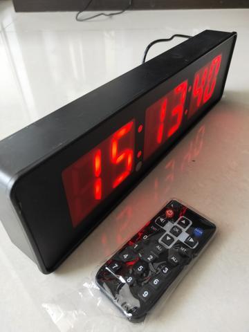 Imagem de Cronômetro regressivo e progressivo digital parede controle vermelho