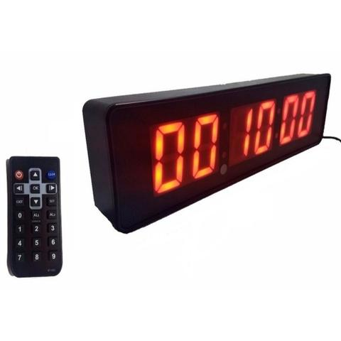 Imagem de Cronômetro Relógio de Parede Digital Led Controle Remoto 32cm le2113