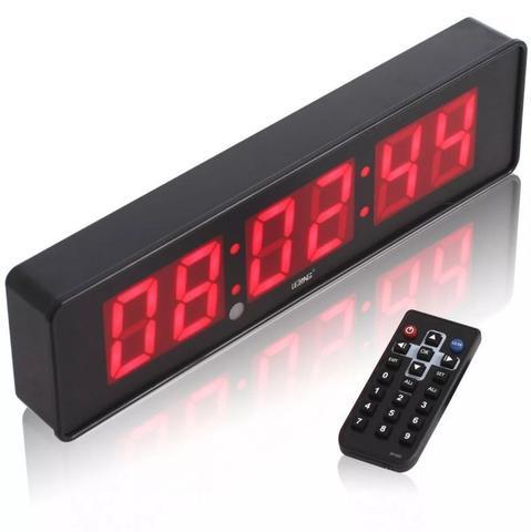 Imagem de Cronometro Relógio Led Digital Parede Mesa C/ Controle