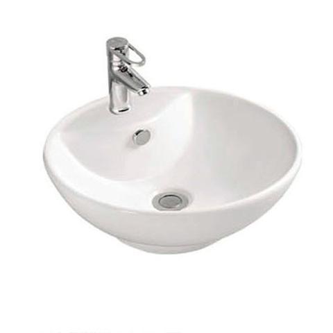 Imagem de Cuba de Apoio Banheiro Lavabo Sobrepor Redonda de Porcelana Cerâmica Louça C285 - Premierdecor