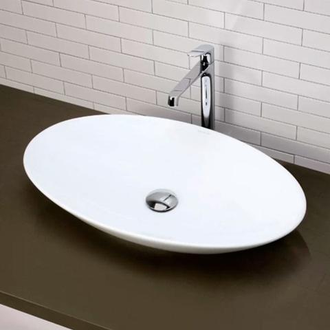 Imagem de Cuba de Apoio Banheiro Lavabo Sobrepor Redonda de Porcelana Cerâmica Louça C305 - Premierdecor