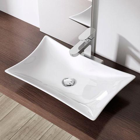 Imagem de Cuba de Apoio Banheiro Lavabo Sobrepor Redonda de Porcelana Cerâmica Louça C310 - Premierdecor