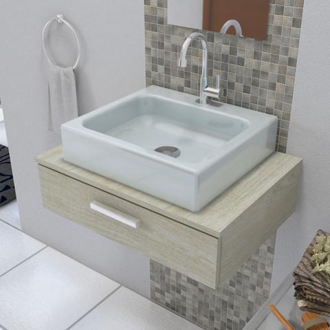 Imagem de Cuba de Apoio para Banheiro Modelo Nice Cinza