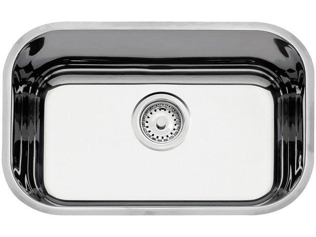 Imagem de Cuba de Embutir para Cozinha Tramontina Inox Retangular 47x30x14cm Perfecta Lavínia +válvula+sifão