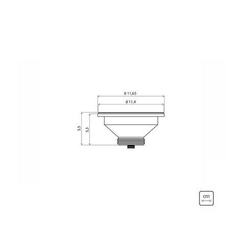 Imagem de Cuba de Embutir Tramontina Lavínia Perfecta 47 BL em Aço Inox Polido 47 x 30 x 14 cm com Válvula