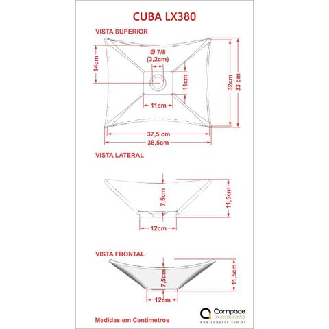 Imagem de Cuba Lux L38W com Torneira Link Alta e Válvula 7/8 com Sifão e Flexível Compace Cinza