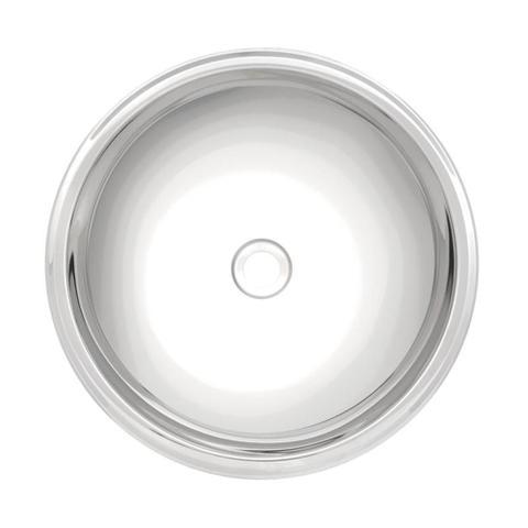 Imagem de Cuba para lavabo redonda aço inox alto brilho 34 cm  - PERFECTA