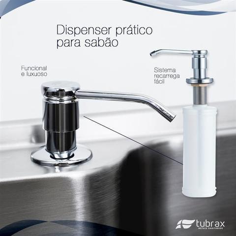 Imagem de Cuba Pia Cozinha Gourmet Luxo Com Acessórios Aço Inox 304 modelo Aquas Tubrax