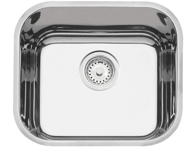 Imagem de Cuba Simples de Embutir para Cozinha Tramontina Inox Retangular 40x34cm Prime Lavínia +válvula+sifão