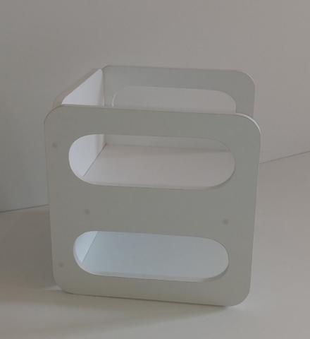 Imagem de Cubo Cadeirinha Mesinha Multifuncional Branco