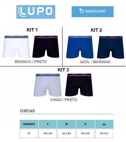 Imagem de Cuecas Boxer Lupo Kit 12 Cuecas Algodão Box 100 Original