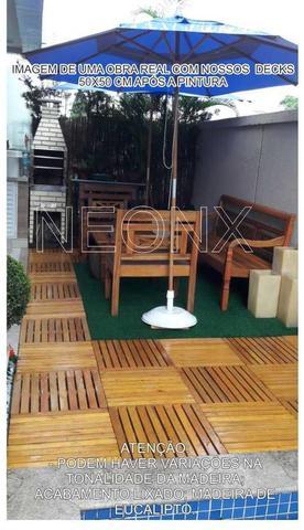 Imagem de Deck De Madeira Modular Base Madeira 50x50cm Neonx