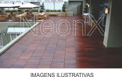 Imagem de Deck De Madeira Modular Base Madeira 50x50cm Réguas 8 Cm NeonX