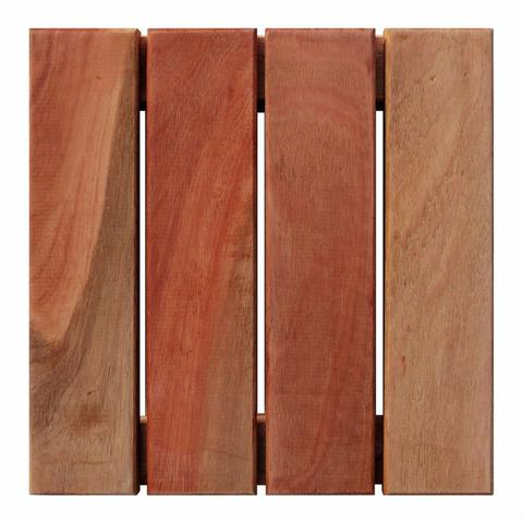 Imagem de Deck de Madeira Modular Base Madeira Isabela Revestimentos 30cmx30cm (Placa) Natural