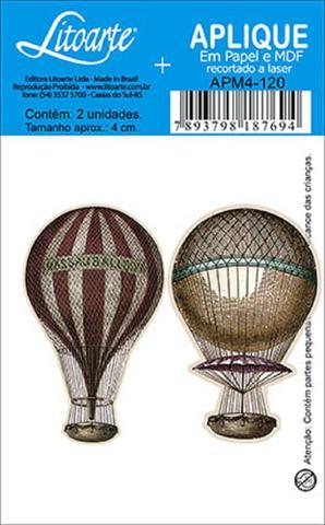 Imagem de Decoupage Aplique em Papel e MDF Balões APM4-120 - Litoarte