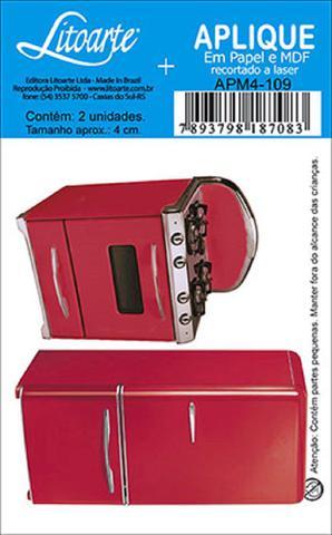 Imagem de Decoupage Aplique em Papel e MDF Geladeira e Fogão APM4-109 - Litoarte