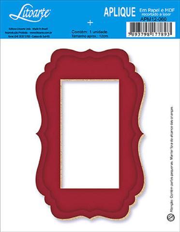 Imagem de Decoupage Aplique em Papel e MDF Moldura APM12-060 - Litoarte