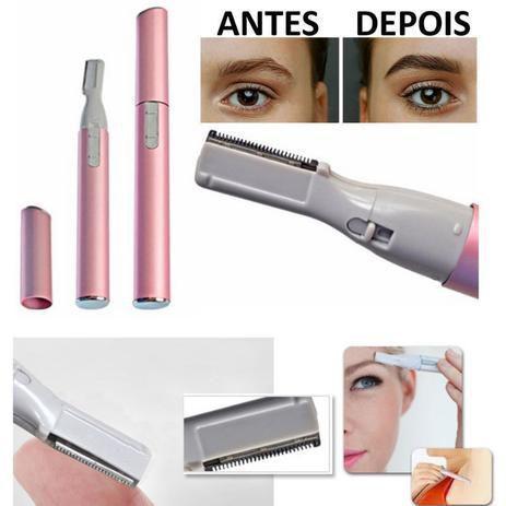 Imagem de Depilador Elétrico Aparador Feminino Removedor de Pelos Facial Portátil Caneta