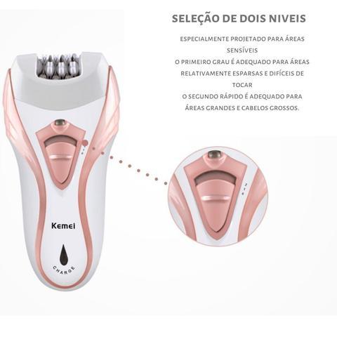 Imagem de Depilador Elétrico Feminino Aparador Pelos + Lixa Pé Intimo