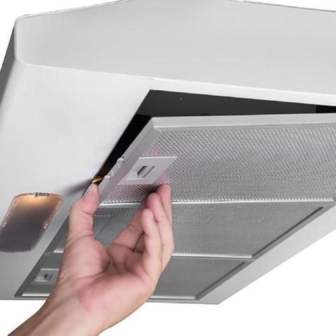 Imagem de Depurador De Ar Suggar 60cm 4 Bocas 3 Velocidades Duplo Filtro Luminária Modo Coifa Branco 220V