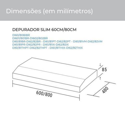 Imagem de Depurador e Exaustor de ar Slim 60 Cm Prata Suggar