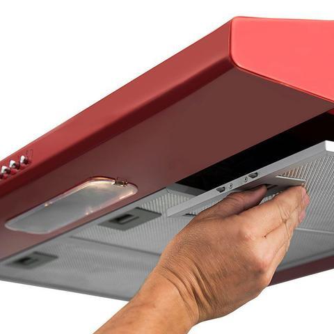 Imagem de Depurador e Exaustor de ar Slim 80 Cm Vermelho Suggar