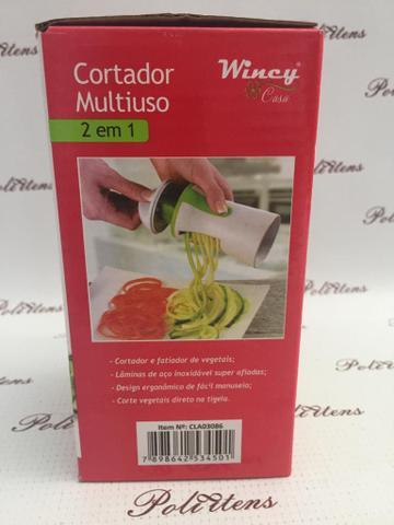Imagem de Descascador Legumes Espiral Fatiador Cortador Modelador