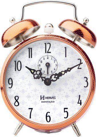 Imagem de Despertador Mecânico Bronze/Cobre/Rosê Herweg Ref: 2371-320