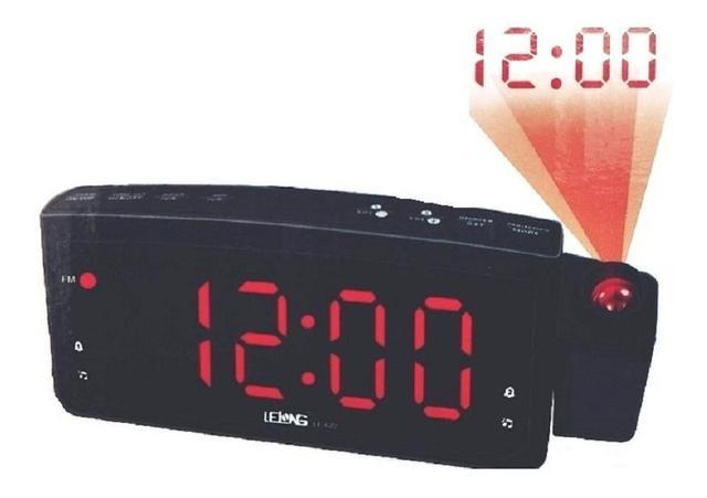 Imagem de Despertador Radio Relógio Digital Lelong E Projetor De Hora