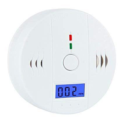 Imagem de Detector de fumaca sensor de incendio monoxido de carbono alarme digital sonoro visual