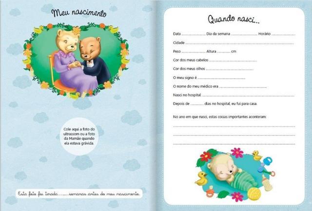 Imagem de Diário Álbum Recordações Do Bebê Azul Todolivro