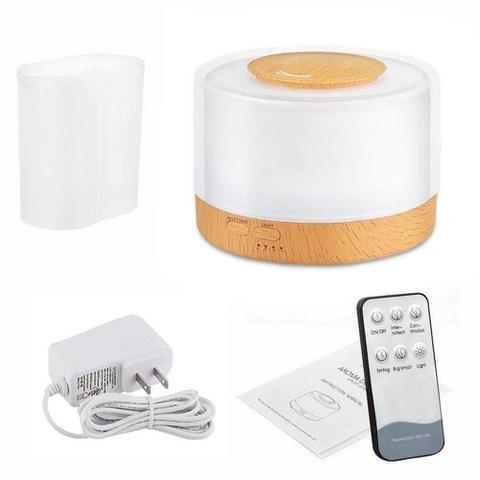 Imagem de Difusor Aromatizador 500ml de Controle Remoto Elétrico Led 7 Cores Luminaria Aromaterapia