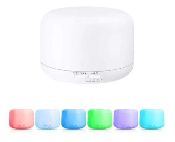 Imagem de Difusor Aromatizador de Aroma Umidificador de Ar Luz Colorido Luminária Abajur Com Luz 7 Cores Led 300ml