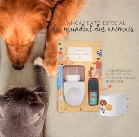 Imagem de Difusor Aromatizador Elétrico de Porcelana Pets Via Aroma com Óleo Essencial 10ml