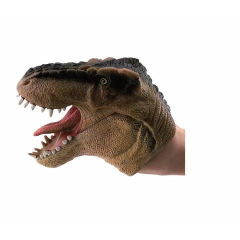 Imagem de Dino Fantoche Marrom 15cm 3731 - Dtc