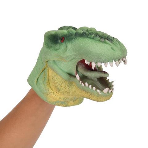 Imagem de Dino Fantoche Verde 15cm 3731 - Dtc