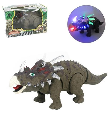 Imagem de Dinossauro estiracossauro com som e luz a pilha na caixa wellkids