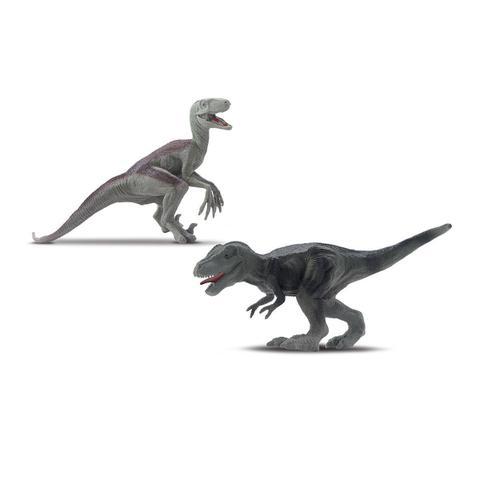 Imagem de Dinossauro Tiranossauro Rex Com Som + 2 Dinossauros Pequenos