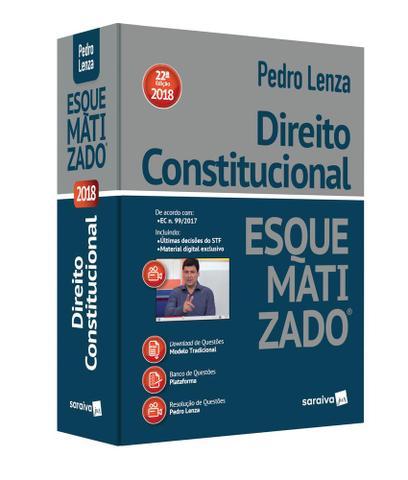 Imagem de Direito Constitucional - Esquematizado - 22 Ed - Saraiva