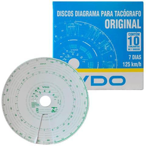 Imagem de Disco Diagrama Tacógrafo Semanal 125Km 7D 70 Unidades Vdo