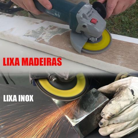 Imagem de Disco Lixa Flap 4.1/2 115mm G120 Aço Madeira Inox P/ Esmerilhadeira