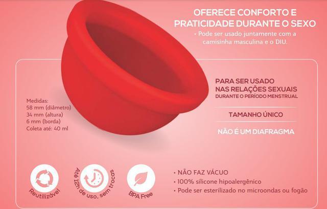 Imagem de Disco Menstrual Fleurity Secret Silicone Hipoalergênico