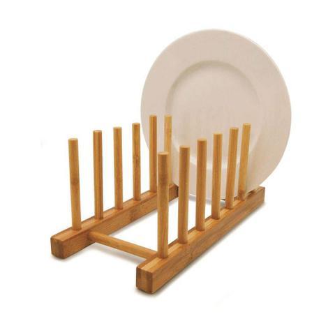 Imagem de Display Escorredor Para 6 Pratos em Bambu Louça Cozinha Yoi