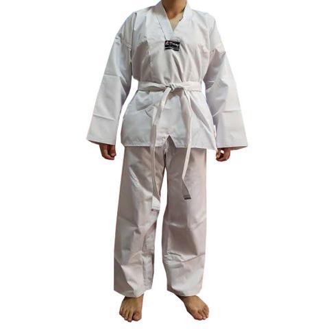 Imagem de Dobok / Kimono Taekwondo Canelado - Branco - Infantil - Torah