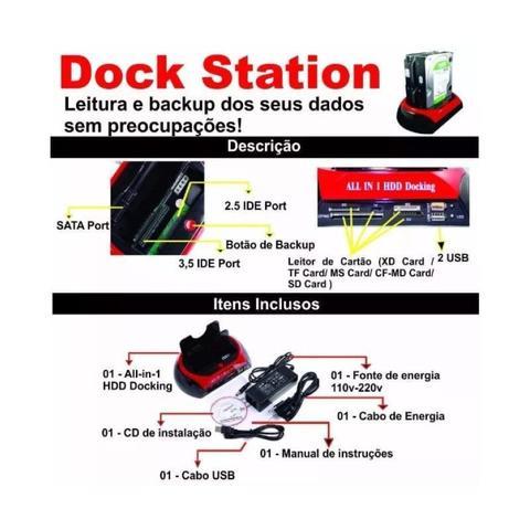 Imagem de Dock station clonadora hd ide sata - knup hd-005