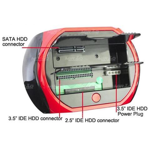 Imagem de Dock Station Usb 2 Hd Case 2.5/3.5 Sata Hdd c leitor sd HD005