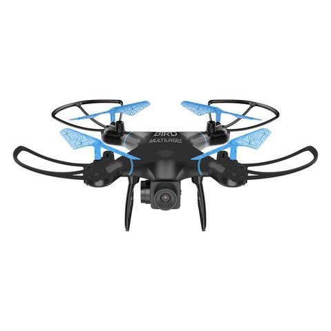 Imagem de Drone Multilaser Bird Câmera HD 1280P Bateria 22 minutos Alcance de 80m Flips em 360 Controle remoto Preto/Azul - ES255